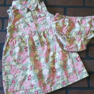 Old navy infant floral  dress 18-24 months